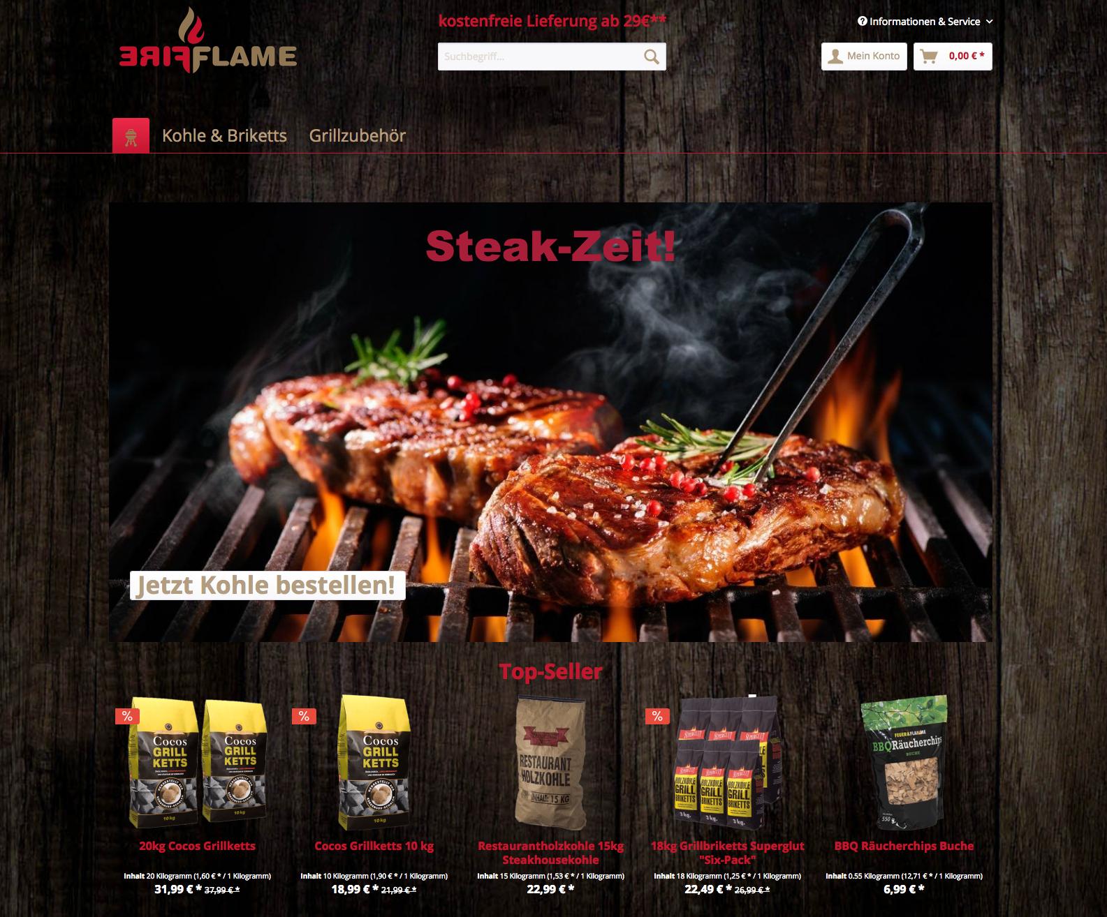 Fire and Flame ist ein Shopware Projekt